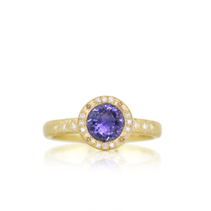 Mixed Halo Mounting with Purple Sapphire | Art + Soul Gallery