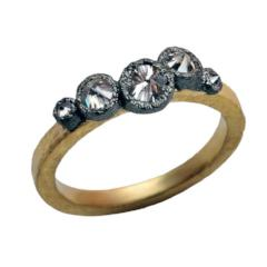 Five Stone Inverted Diamond Ring | Art + Soul Gallery