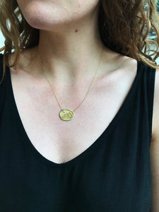 Small Yellow Gold Flatirons Pendant