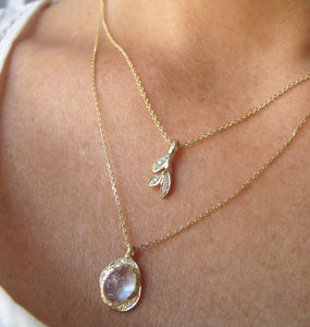 Oasis Moonstone and Diamond Necklace