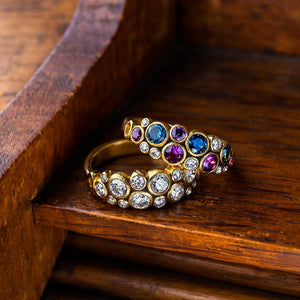 Diamond and 18k Rose Ring | Art + Soul Gallery