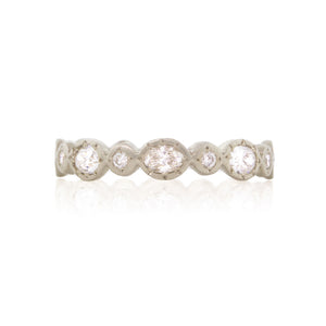 Oval And Round Diamond Ring