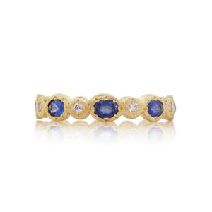 Oval and Round Sappire and Diamond Band | Art + Soul Gallery