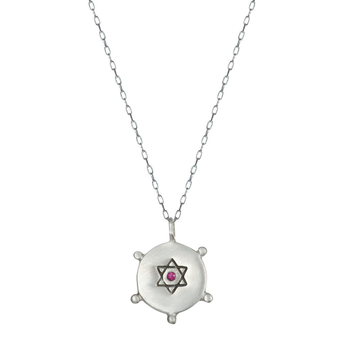 Star of David Ruby Pendant | Art + Soul Gallery