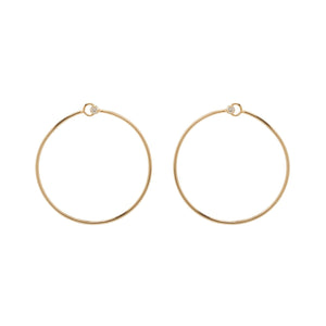 Diamond Prong Medium Front Facing Circle Hoops | Art + Soul Gallery