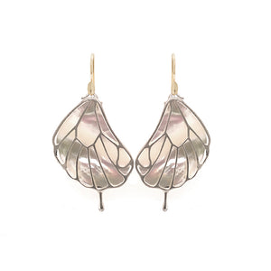 Mother of Pearl Papillon Wing Earrings