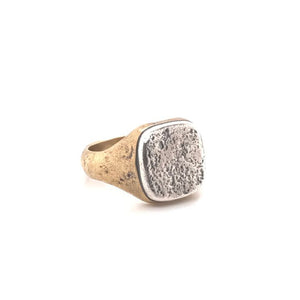 Sterling and Brass Signet Ring