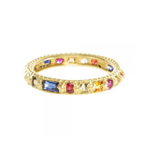 Rapunzel Ring with Rainbow Harlequin Mix