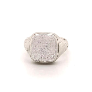 Sterling Silver Distressed Signet Ring | Art + Soul Gallery