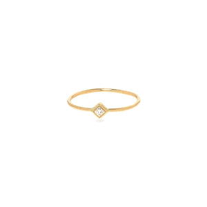 14K Diamond Shape Bezel Ring | Art + Soul Gallery