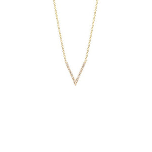 Small Pave V Necklace