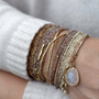 Load image into Gallery viewer, Wrap Bracelet / Necklace with Multiple Stone Options