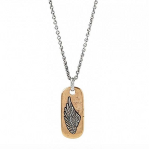 Wing Dog Tag Necklace