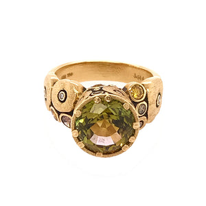 Autumn Tourmaline 'Orchard' Ring | Art + Soul Gallery
