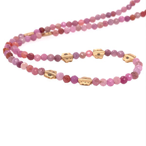 Ruby Flora Bead Necklace | Art + Soul Gallery