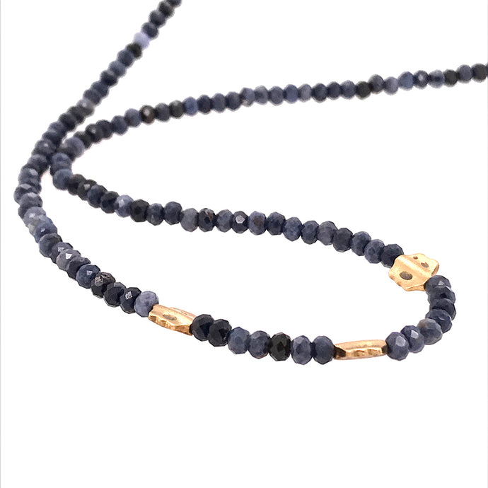 Sapphire Flora Bead Necklace | Art + Soul Gallery