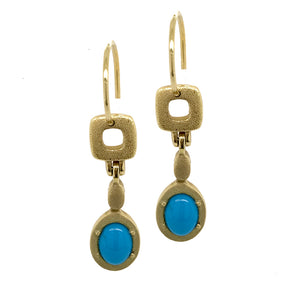 Turquoise 'Little Windows' Earrings | Art + Soul Gallery