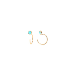 Turquoise Tiny Open Hoop Earrings | Art + Soul Gallery