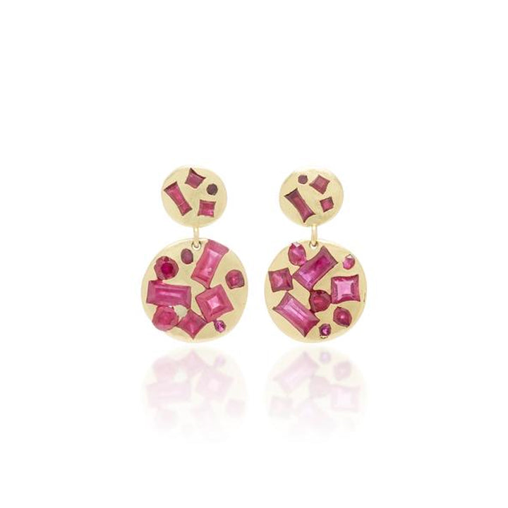 Double Drop Ruby Earring | Art + Soul Gallery