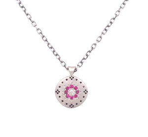 Ruby Cluster Flora Necklace