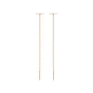 Thin Bar Stud Threader Earrings | Art + Soul Gallery