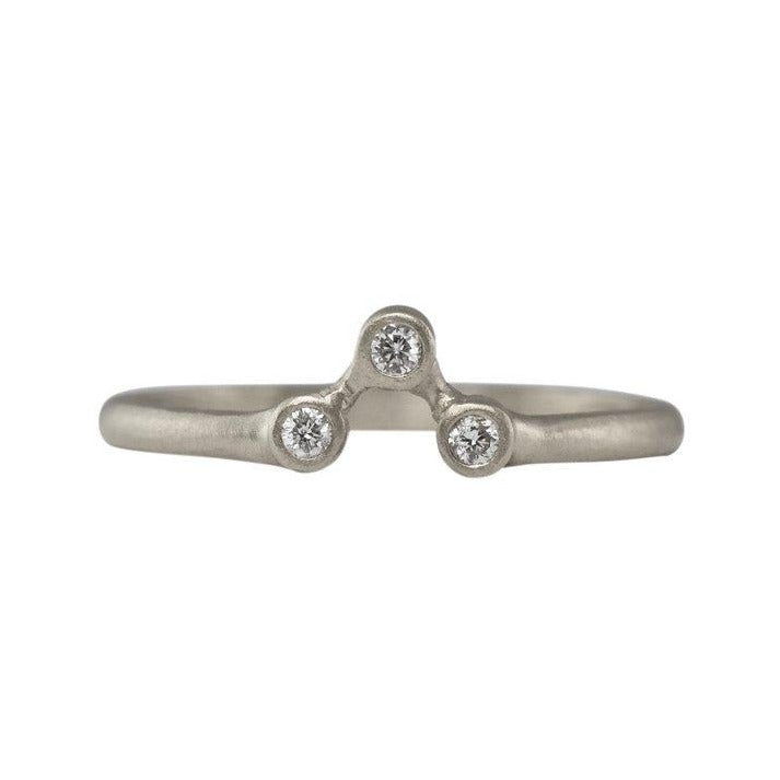 Modern Three Diamond Stacking Ring | Art + Soul Gallery