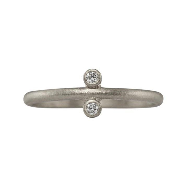 Modern Two Diamond Stacking Ring | Art + Soul Gallery