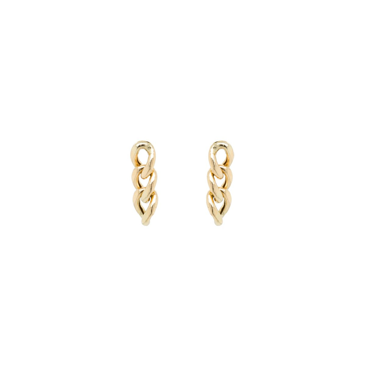 Large Curb Chain Drop Earrings