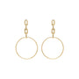 Load image into Gallery viewer, Large Square Oval Chain Drop Hoop Earrings