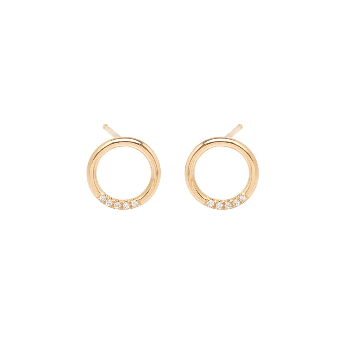 Thick Circle Stud Earrings | Art + Soul Gallery