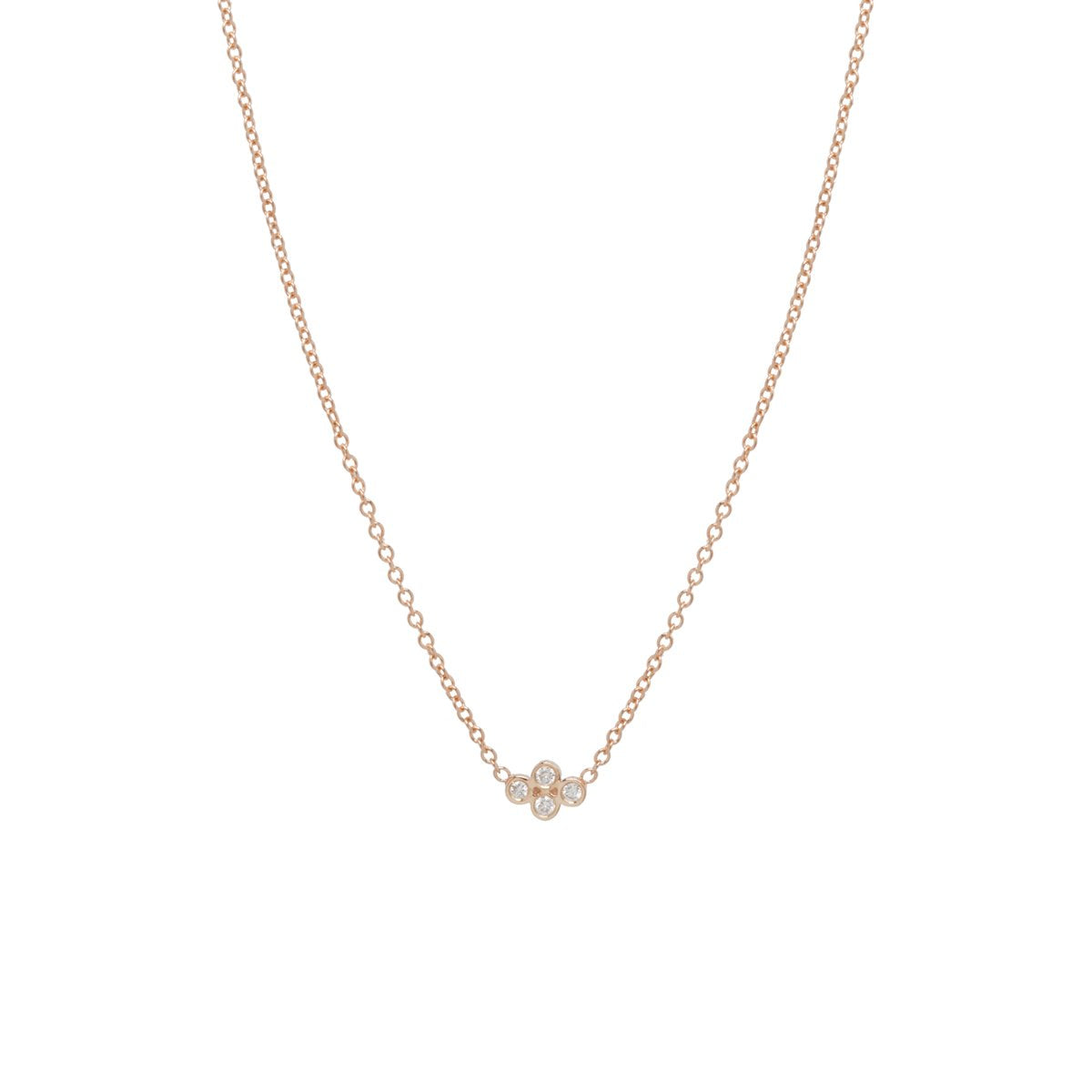 Tiny Bezel Diamond Quad Necklace | Art + Soul Gallery