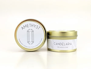 Candelaria Gold Tin Candles