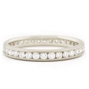 Classic Channel Set Half Eternity Band | Art + Soul Gallery