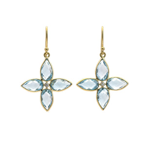 Topaz 'Compass' Earrings