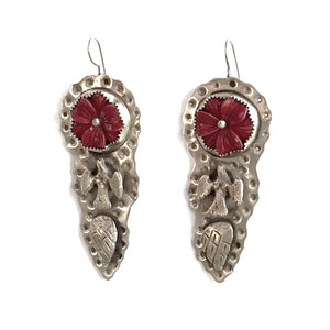 Free Spirit Earrings with Coral Rose | Art + Soul Gallery