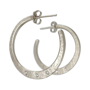 Weathered Hoop Earrings