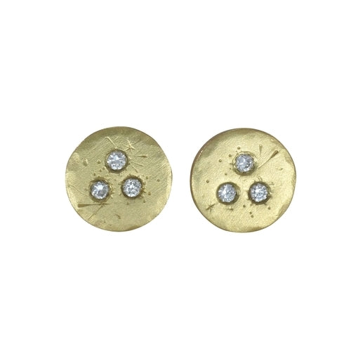 Medium Diamond Treasure Coin Earrings | Art + Soul Gallery