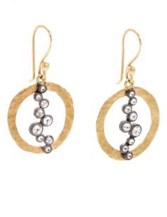 Circle Earrings with Diamonds | Art + Soul Gallery