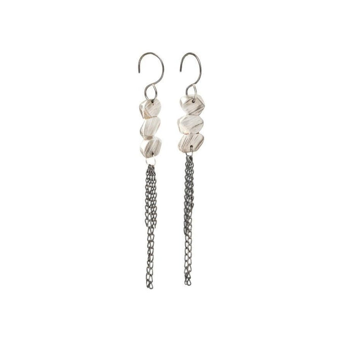 Strata Sterling Silver Fringe Earrings | Art + Soul Gallery