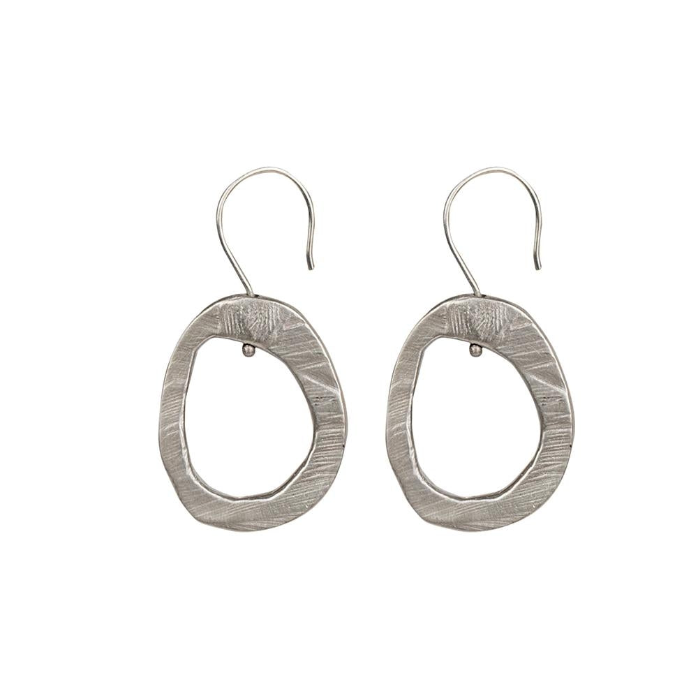 Skipping Stones Sterling Silver Simple Hoop | Art + Soul Gallery