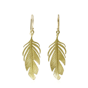 Large Feather Earrings | Art + Soul Gallery