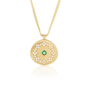 Universe Pendant in Diamond and Emerald | Art + Soul Gallery