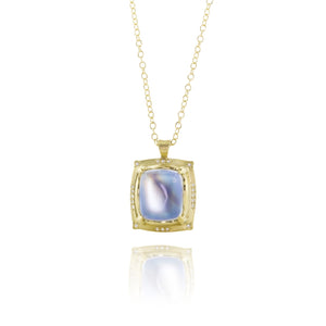 Rectangle Moonstone Pendant