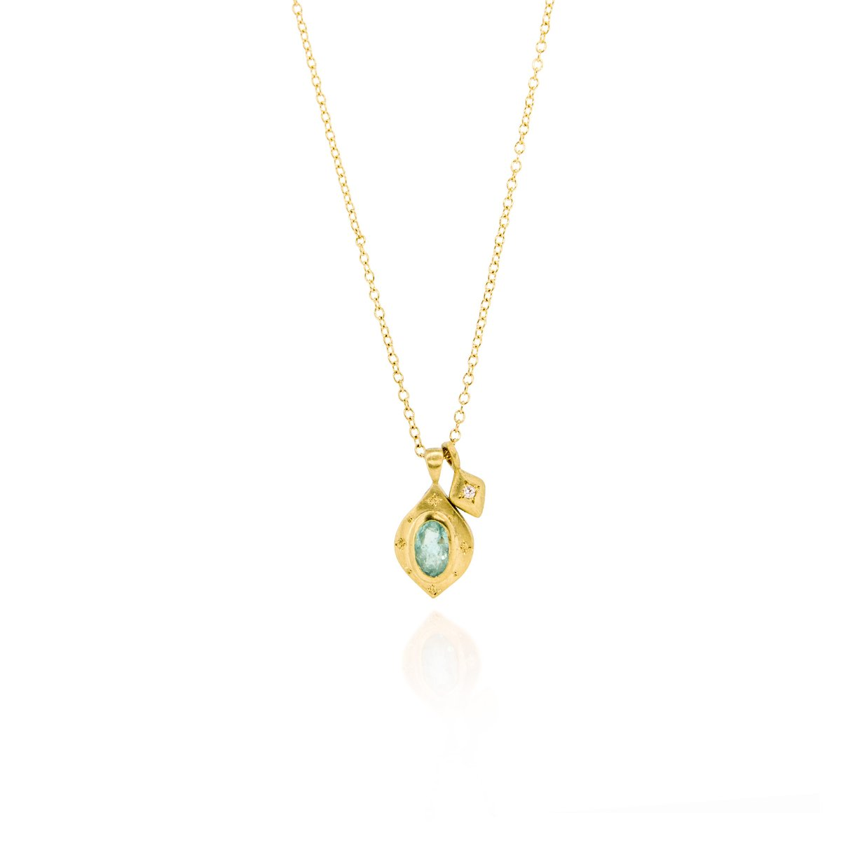 Drops of Happiness Oval Pendant Necklace