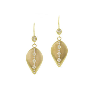 Memories Dew Drop Earrings with Diamond | Art + Soul Gallery