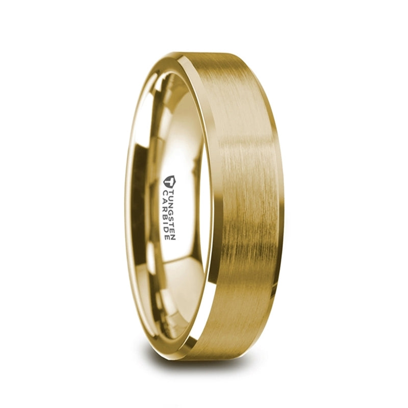 Honor Gold Plated Tungsten Band | Art + Soul Gallery