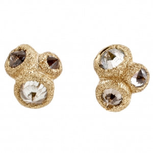 Gold Triple Diamond Studs | Art + Soul Gallery