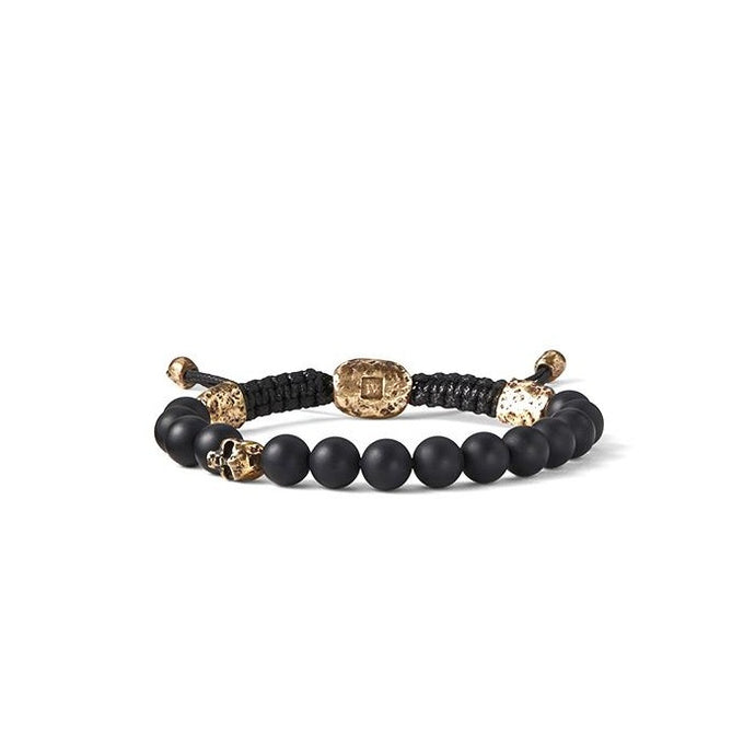 Brass and Onyx Skull Bracelet | Art + Soul Gallery