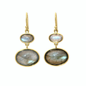 Labradorite Double Oval Earrings | Art + Soul Gallery
