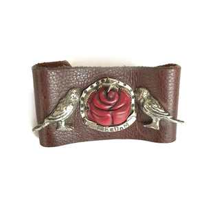 Freedom Birds Leather Cuff | Art + Soul Gallery